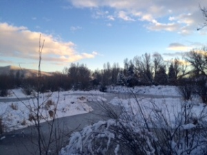 Snowy Yampa: Steamboat's Yampa River, partly frozen in November!