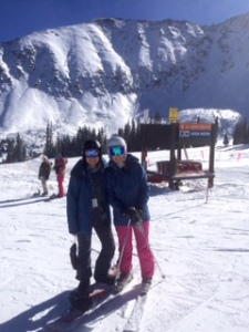 Skiing at A-Basin: I met up with my college friend Amanda for some great early season shredding!